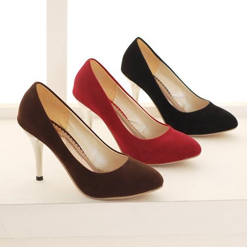 Plus-taille-35-46-New-Flock-femmes-pompes-chaussures-OL-travail-de-bureau-Sexy-talons-chaussures